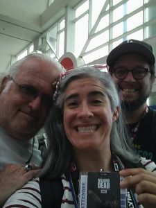 BADGED and Ready for Comic-Con! Yup! My dad! Me and Dave!