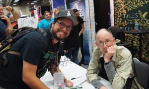 Dave met William Gibson! Thanks for the cyberpunk stories!
