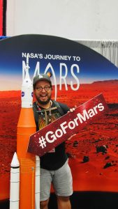 I got Dave to pose for pictures!!!! MARS, Baby!